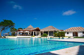 Piscina no caribe resort — Foto Stock