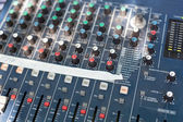 Sound mixer control desk — Stock Photo