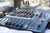 Escritorio de control mezclador profesional — Foto de Stock