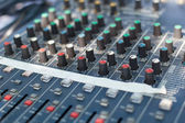 Sound mixer control desk — Stockfoto