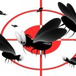 Blood thirsty mosquitoes — Stock Photo #11120996