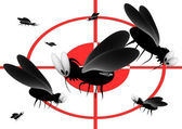 Blood thirsty mosquitoes — Stock Photo