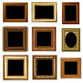 Set of retro vintage frame — Stock Vector
