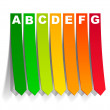 Royalty-Free Stock Immagine Vettoriale: Energy classification in the form of a sticker