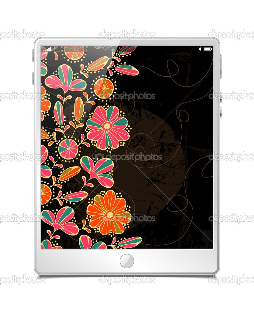 Tablet pc, vector model — Stock Vector #11176894
