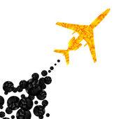 Samolot, streszczenie tło wektor — Wektor stockowy