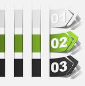 Realistic design elements — Vector de stock