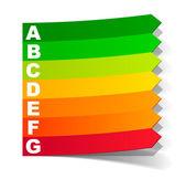 Klasifikace energetické v podobě štítku — Stock vektor