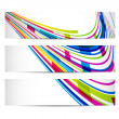 Three banners with abstract background — Stock Vector