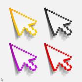 Cursor em forma de adesivos — Vetorial Stock