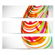 Stock Vector: Three banners with abstract background
