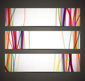 Banner met abstracte patroon — Stockvector
