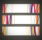 Bannière avec motif abstrait — Vecteur