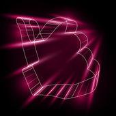 абстрактный символ как в стиле 3d — Cтоковый вектор