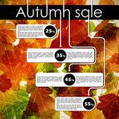 Venta de descuento otoño — Vector de stock
