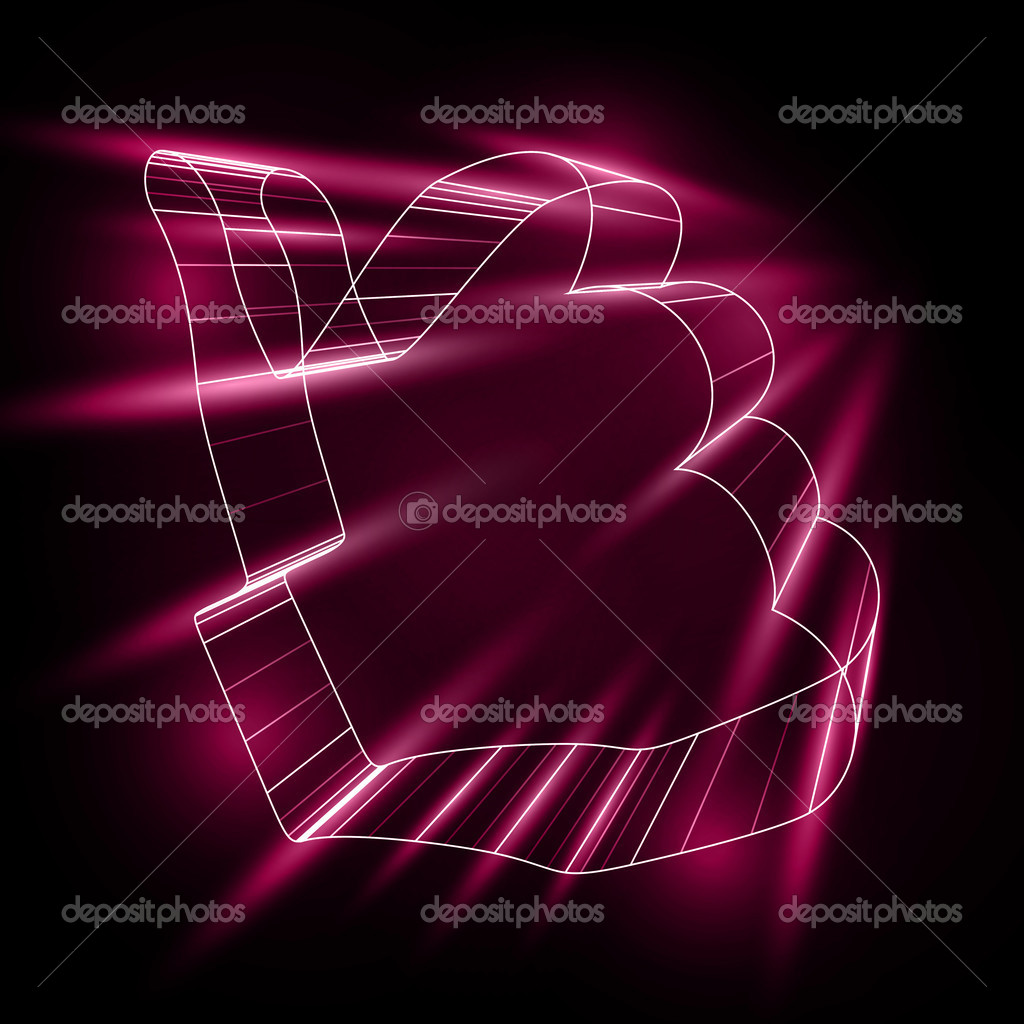 Abstract symbol of LIKE in style 3D  Stock Vector #12350660