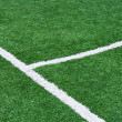 Part of the floor markings of football. - Foto Stock