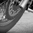 Wheel motorcycle close up. — Stock Photo #11198762