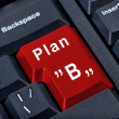 Red button Plan B. — Stock Photo #11442567