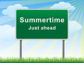 Sommer vor uns billboard. — Stockvektor
