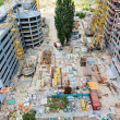 Construction site with many equipment and building garbage — Stock Photo #12200486