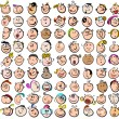 Expression Doodle Cartoon Icons - Stock Vector