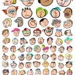 Face Expression Doodle Cartoon Icons — Stock Vector