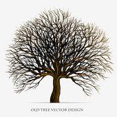 Diseño ilustración del árbol vector silueta — Vector de stock