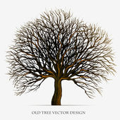 Tree vector silhouette illustration design — Stock Vector