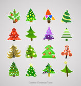 Christmas Tree Icon. Illustration Vector Xmas Set — Stock Vector