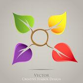 Creative nature emblem vector icon. Colorful design — Stock Vector