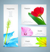 Flower brochure background design. Vector card template — Stock Vector