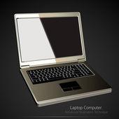 Laptop Computer Vector Illustration — Stock Vector