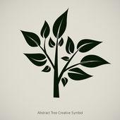 Ilustração em vetor planta árvore. símbolo de concepção abstrata de natureza — Vetorial Stock