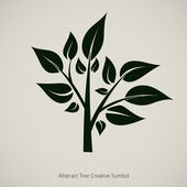 Tree plant vector illustration. Nature abstract design symbol — Stok Vektör