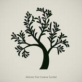Tree branch vector silhouette graphic design — Stock Vector