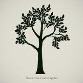 Ilustración de vector planta árbol. símbolo de diseño abstracto de la naturaleza — Vector de stock