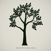 Illustration vectorielle d'arbre plante. symbole de nature dessin abstrait — Vecteur