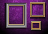 Picture Frame Wallpaper Background. Photo Frame on Grunge Wall — Stock Vector