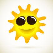 Solen leende vektor sommaren icon — Stockvektor