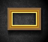 Bild rahmen wallpaper hintergrund. fotorahmen auf grunge-wand — Stockvektor