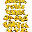 Graffiti Font Alphabet Vector Art Design — Imagen vectorial