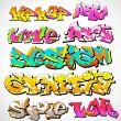 Graffiti Font Vector Art — Stock Vector