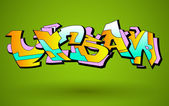 Graffiti Urban Art Vector Design — Stock Vector