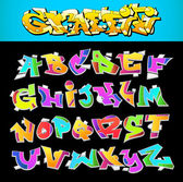 Graffiti Font Alphabet Vector Art Design — Stock Vector