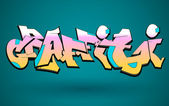 Graffiti Urban Art Vector Design — Vector de stock