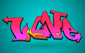 Graffiti Urban Art Vector Design — Stockvector