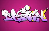 Graffiti městských umění vektorová design — Stock vektor