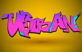 Graffiti-urbane kunst-vektor-design — Stockvektor