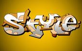 αστική τέχνη γκράφιτι φορέα σχεδιασμού — Διανυσματικό Αρχείο